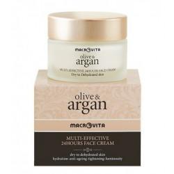 Крем з аргановою олією для сухої шкіри обличчя Macrovita Argan