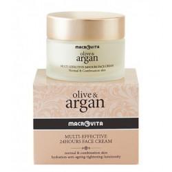 Натуральный крем для лица с аргановым маслом Macrovita