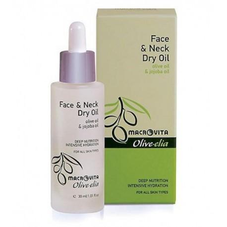 Натуральное сухое масло для лица и шеи Macrovita