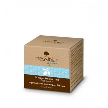 Увлажняющий крем для нормальной и сухой кожи лица Messinian Spa