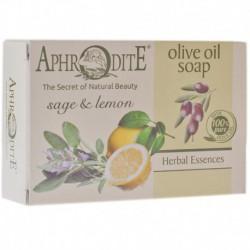 Оливковое мыло с маслом лимона и шалфея Aphrodite