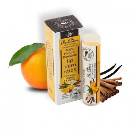 Увлажняющая помада для губ BioAroma с апельсином и корицей