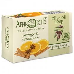 Оливковое мыло с маслом апельсина и корицей Aphrodite