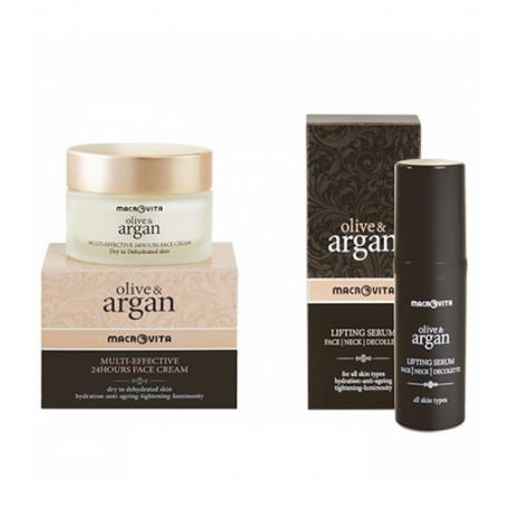 Набор косметики Macrovita Argan: сыворотка + крем