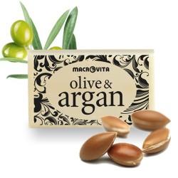 Натуральное мыло с оливковым и аргановым маслом Macrovita